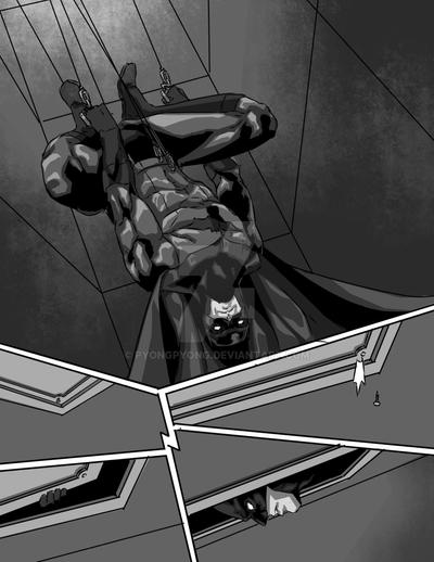 BLACK AND WHITE BATMAN PAGE 2 by pyongpyong