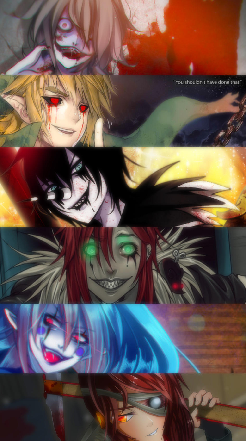 Anime Characters Laughing : My top favorite creepypasta characters by candypout on