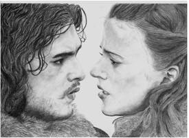 Jon and Ygritte by infinity15197