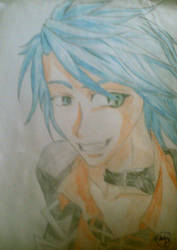Boy with blue hair by NonPlayer