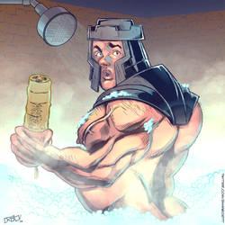 Ram Man Showering