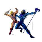 He-Man v Skeletor by shaneoid77