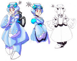DEN-07 Snowwoman by Dollwoman