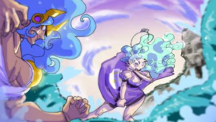 Water battle by Dollwoman