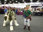 wolf link with link