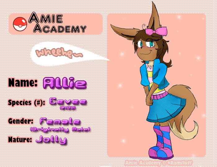 Amie Academy App: Allie by Dapuffster