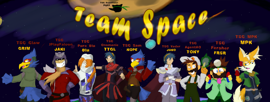 Super Smash Bros Melee Team Space By Dapuffster