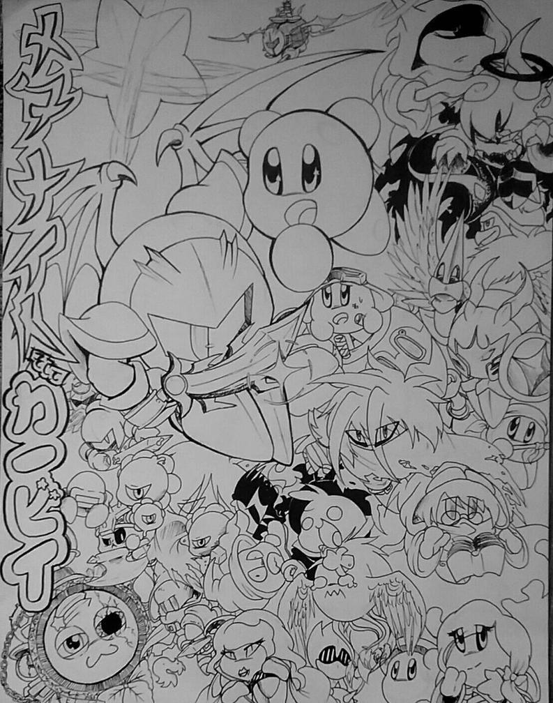 Metanaito and Kabii (outline) Cover by KareBear117