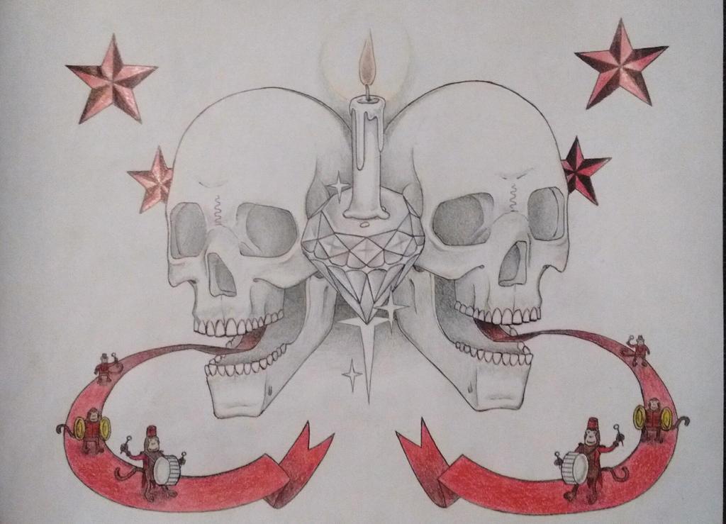 Skulls and monkeys by samaelclayman