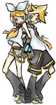 Rin and Len Kagamine -Colored-