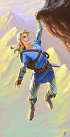 Link Climbing. Breath of the Wild
