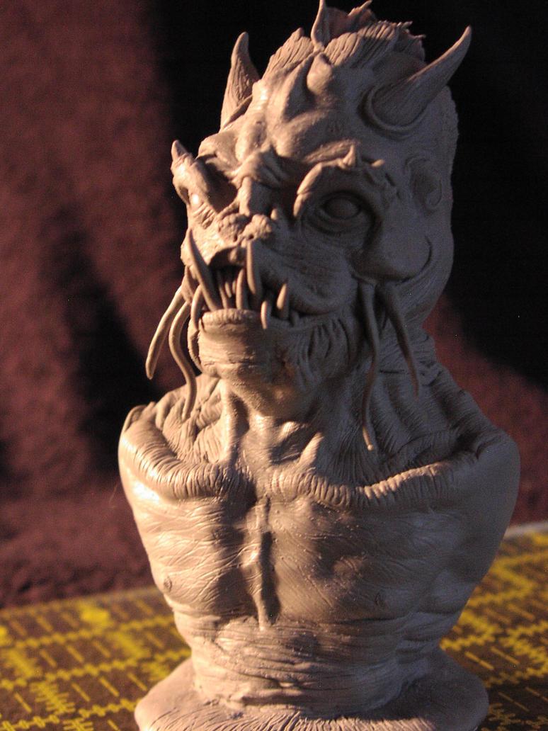 Dagon Bust (WIP) by matternicuss