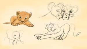 Lion doodles + Elephant