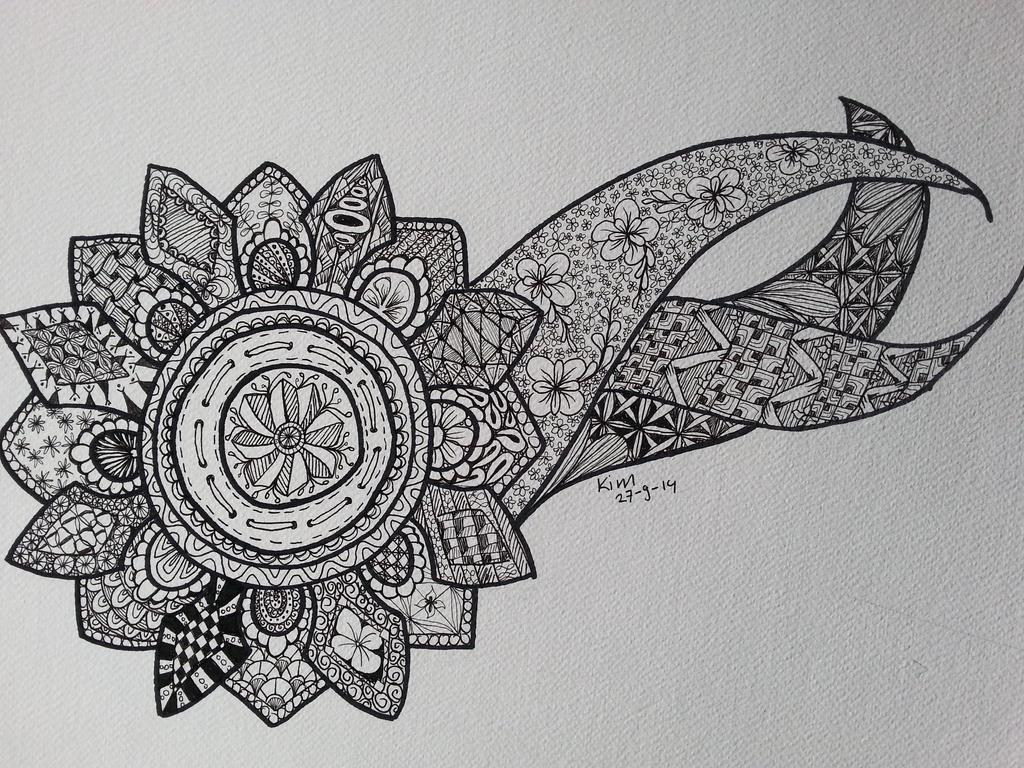 Zentangle flower et by Elmazam on DeviantArt