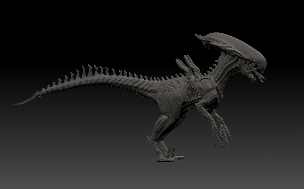 xenomorph raptor model by Crypticguy on DeviantArt