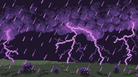 Violet Downpour