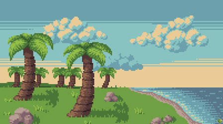 Peaceful Palms by Eternaios
