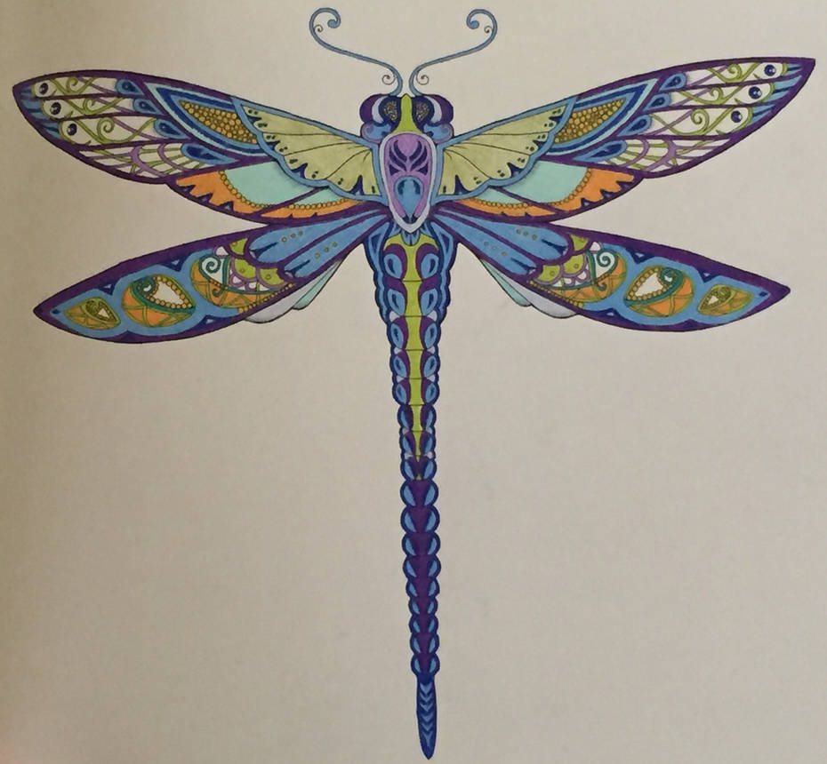 Dragonfly Color Pencil And Coloring Book By Novester Finch