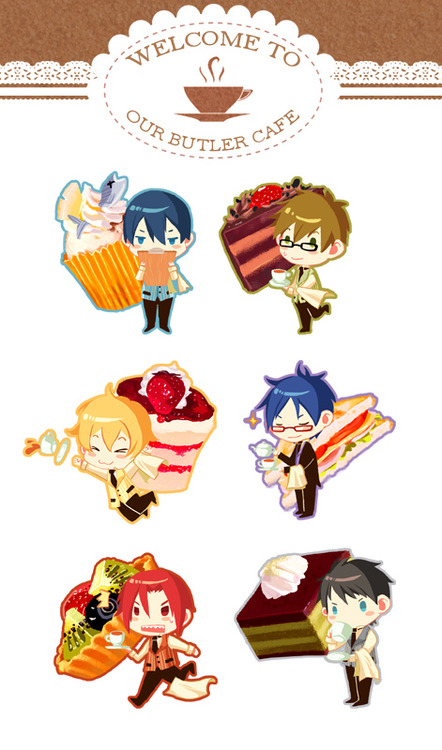Free! x Butler ver. keychain for AFAID 2014 by PlainPaper