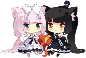 [V/RENDER] Vanilla and Chocola by ValunaSpiral