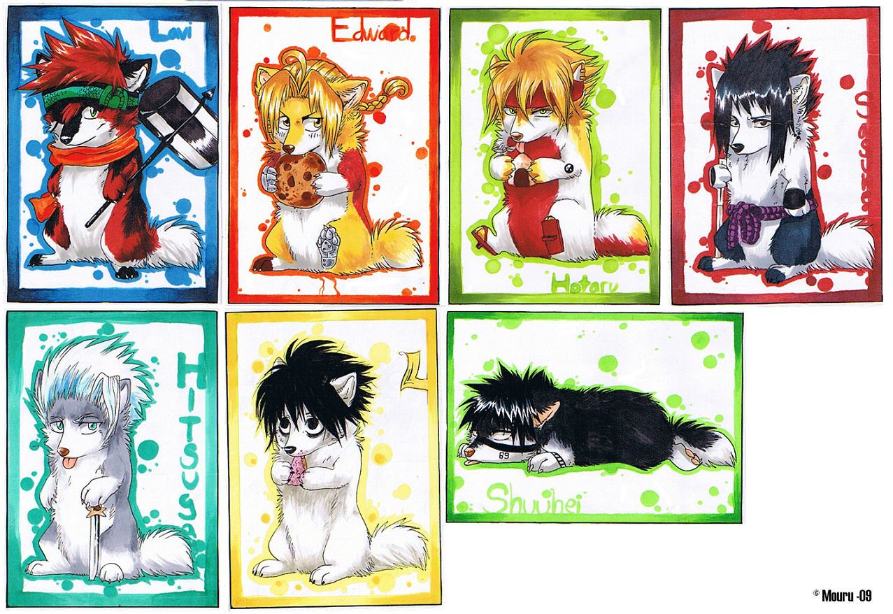 Cute Dog Anime Anime chibi dogs by mourum