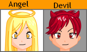 Angel And Devil by Emikodo