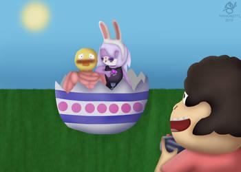 Happy Easter! Love, Amefaxan by AstroDog512
