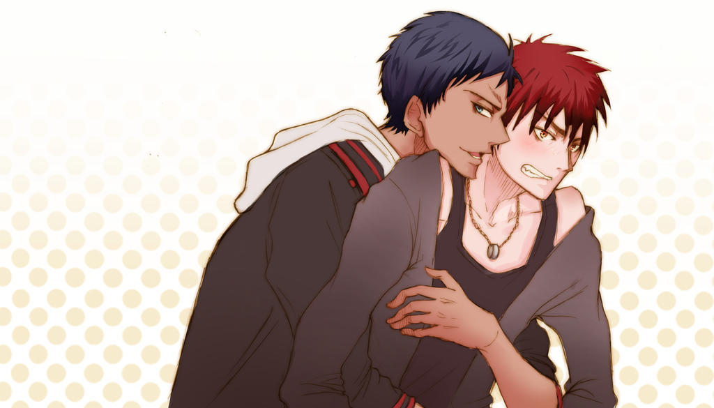 Aoimine and Kagami by SoupyTheOctopus