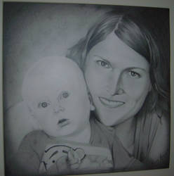 Portrait - Mother and child by Mliss