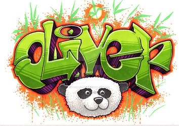 Bamboo Panda Graffiti - Promarker tutorial by GeeMassamArt