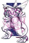 Palkia, Legendary Pokemon - Marker drawing by GeeMassamArt