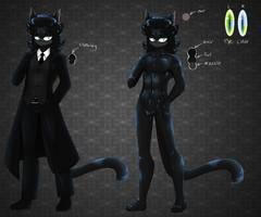 Marth Kane the black cat