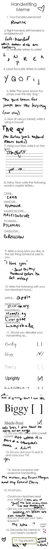 Handwriting Meme by Roselite