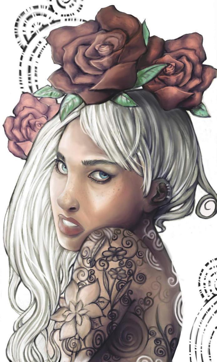 Queen of flowers by Nausinesaa