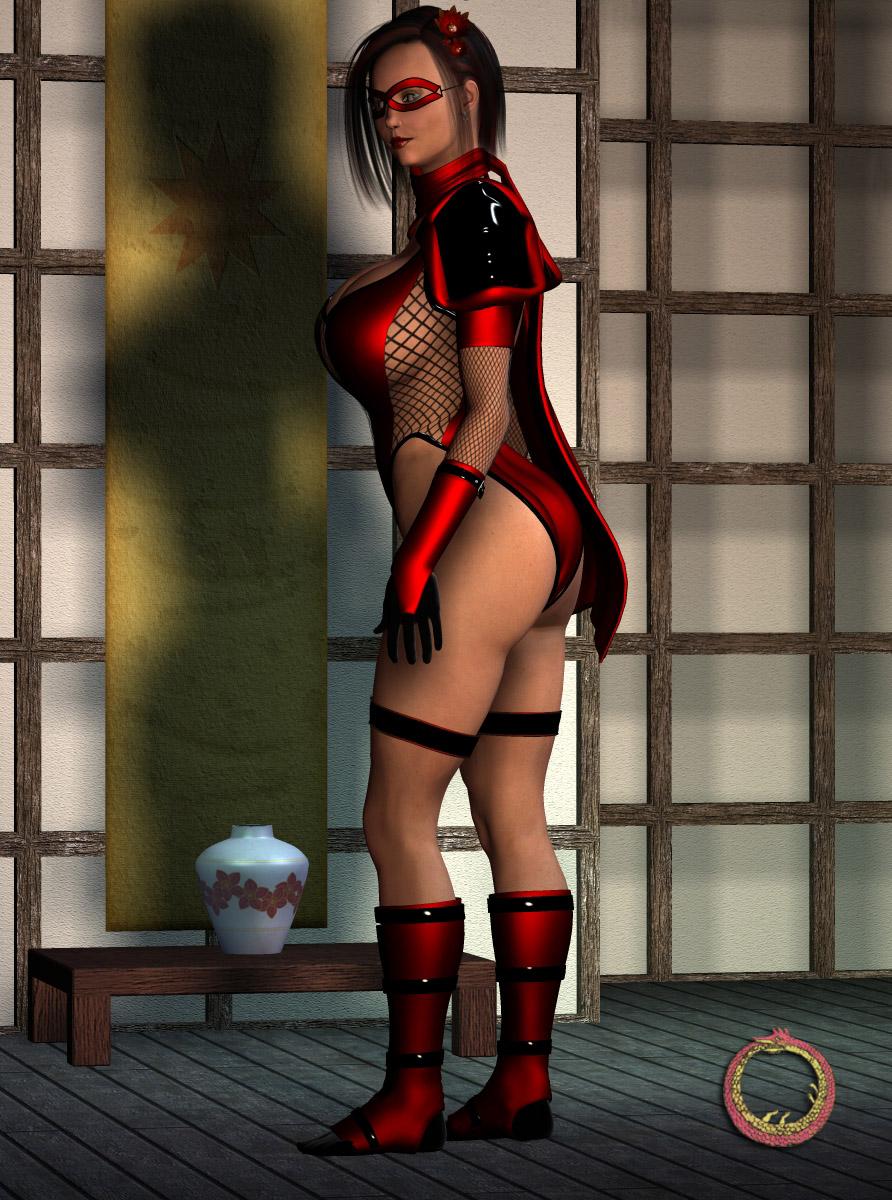 Scarlet Lotus pinup by Uroboros-Art