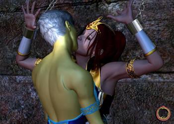 Teela vs. Evil-Lyn 22 by Uroboros-Art
