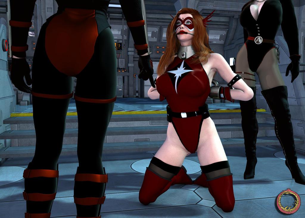 Crimson Valkyrie, Prisoner of Lambda Syndicate 10 by Uroboros-Art