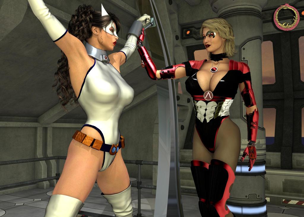 Heroines in bondage tryouts