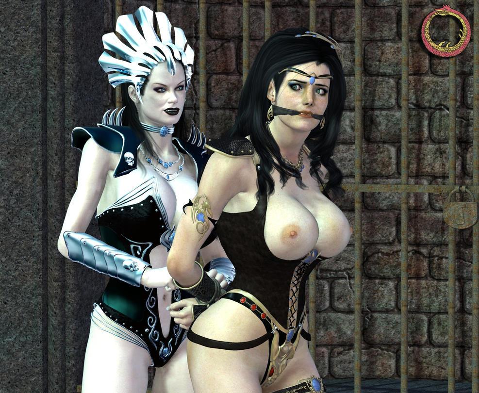 Arha and Amy by Uroboros-Art