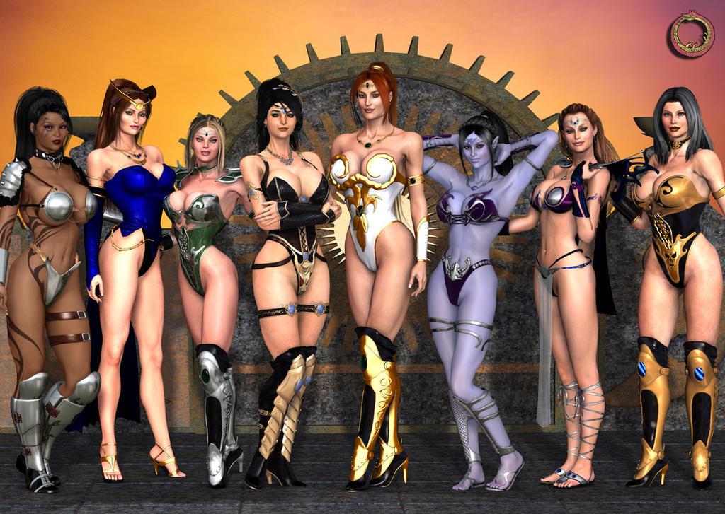 Inner Universe Heroines by Uroboros-Art