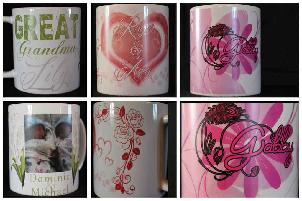 Custom mugs by turtlefire
