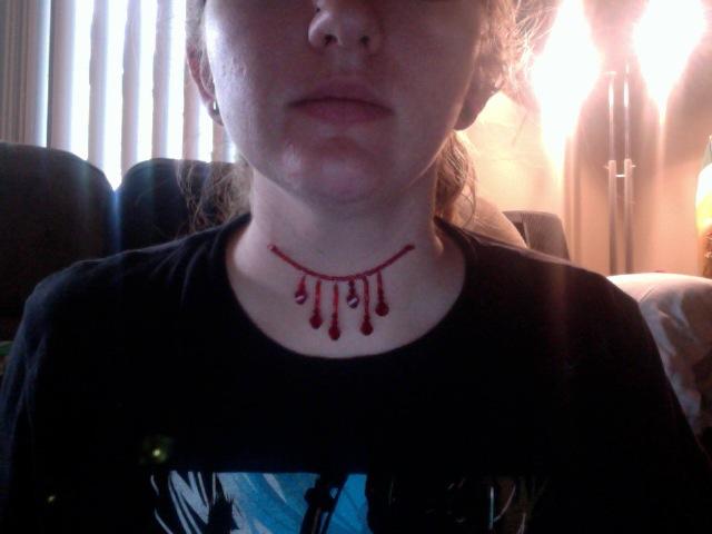 d5958f874937f Blood Dripping Choker by truatlantean on DeviantArt