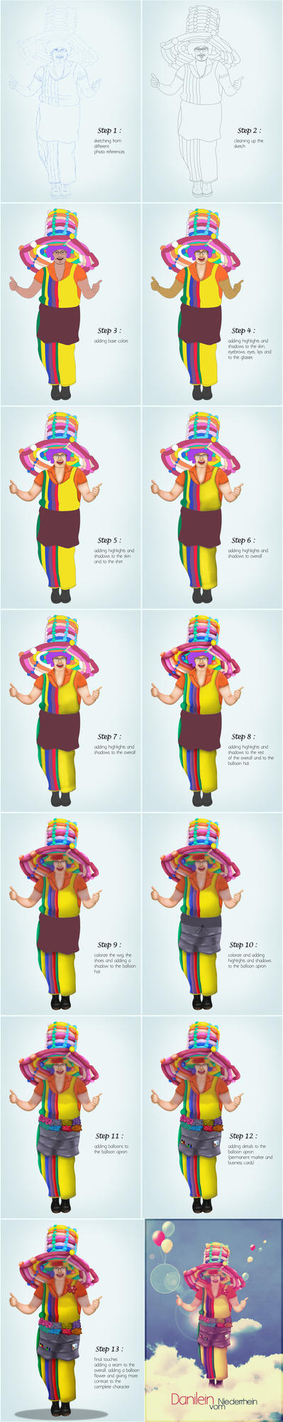 Character Design step by step by S-inspiration