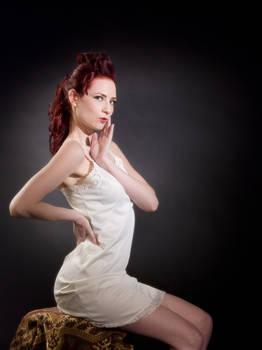 White Slip Pin up by CindyHoliday