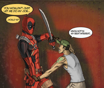 Deadpool VS goon ripoff by fernyxferny
