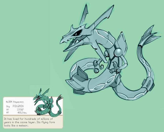 Pokemon: Rayquaza by Scbe