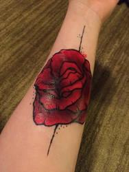 Rose (fake) Tattoo by cantalo-upes