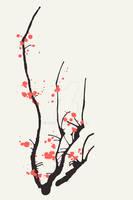 sakura . interior design print by guava