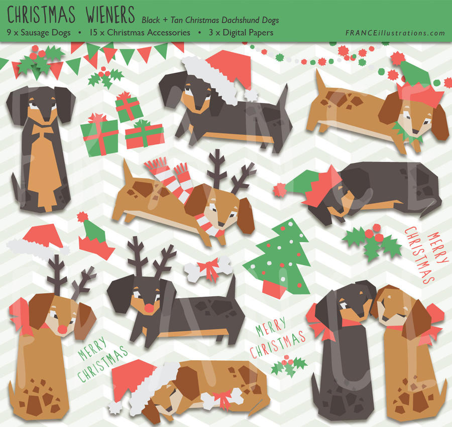 free christmas clip art with dogs - photo #28