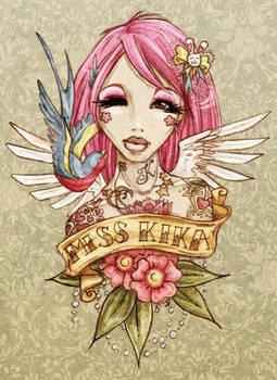 .miss kika tattoo.